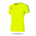 Camiseta Fútbol Global Amarillo Fluor/Azul