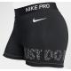 Malla corta negra para mujer Nike 3In Swoosh Selfie